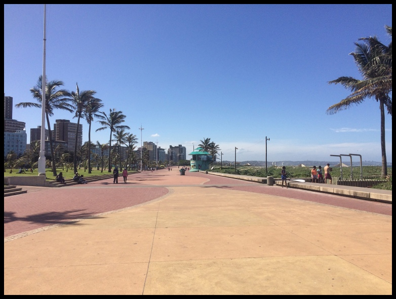 The walkway next to the beach in Durban