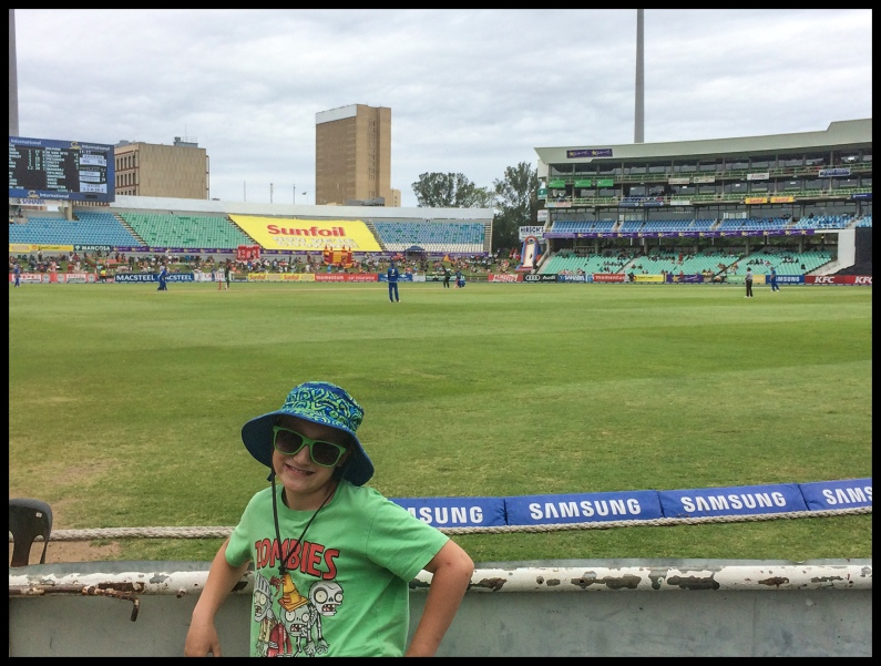 At the cricket stadium
