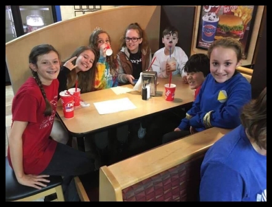 Some of the other actors and the after party at Dairy Queen.